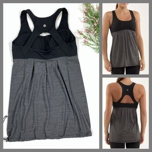 Lululemon Run Your Heart Out Tank Black /Gray